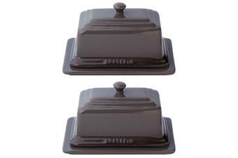 2PK Chasseur La Cuisson Butter Margarine Ceramic Kitchen Dish Container Caviar