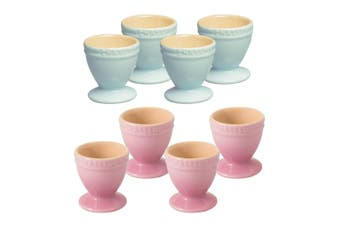 8pc Chasseur La Cuisson Boiled Egg Cup Stand Holder Duck Egg Blue Cherry Blossom