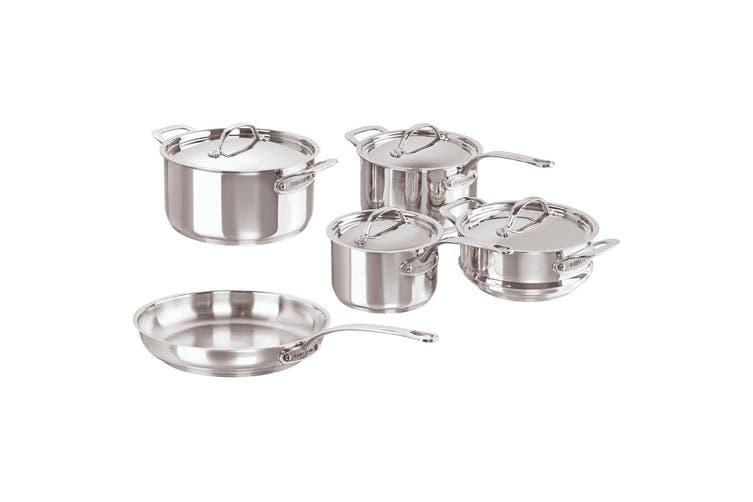 5pc Chasseur Maison Stainless Steel Cookware Pot Fry Pan Set Induction Oven Safe