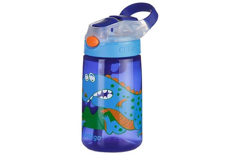Contigo Gizmo Flip Autospout 420ml Kids Water Bottle Spill Leak Proof Dinosaur