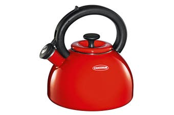 Chasseur Domus 2.5L Stovetop Gas Induction Whistling Hot Water Boiler Kettle Red