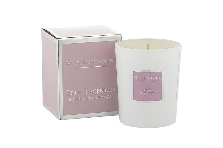 Max Benjamin 190g Natural Wax Scented Fragrance Candle Jar True Lavender
