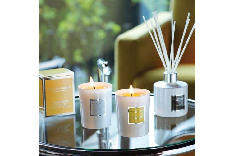 Max Benjamin 190g Natural Wax Scented Fragrance Candle Jar Lemongrass & Ginger