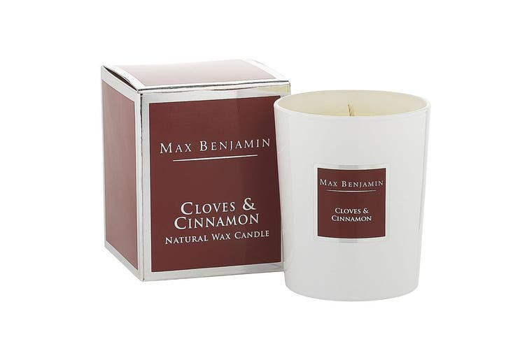 Max Benjamin 190g Natural Wax Scented Fragrance Candle Jar Cloves & Cinnamon