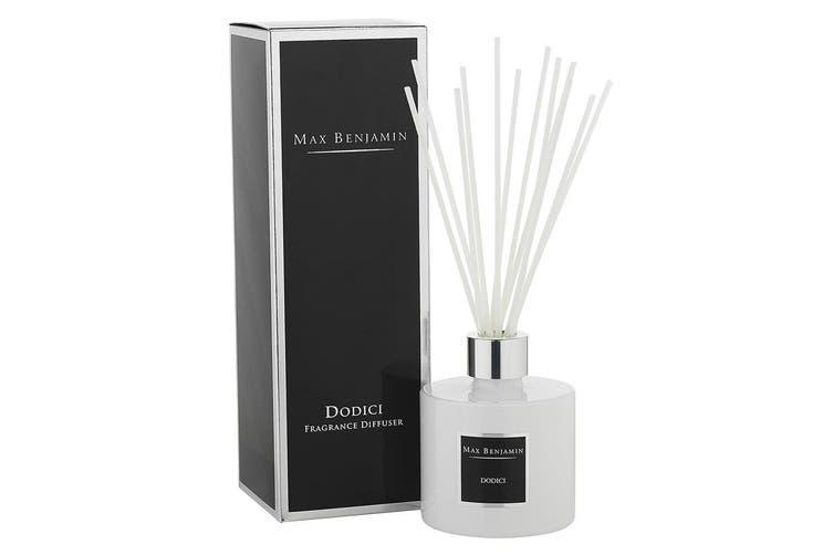 Max Benjamin Ceramic Scented Fragrance Diffuser w 150ml Oil & Reed Dodici