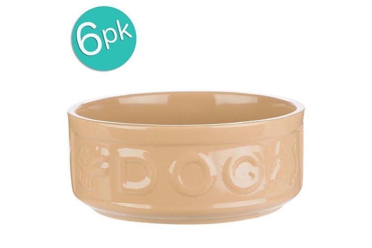 6PK Mason Cash 18cm Pet Dog Lettered Bowl Food Travel Portable Feeding Drinking