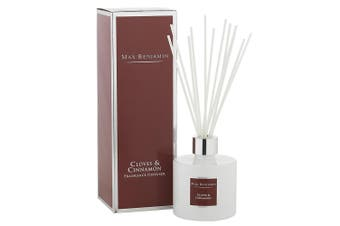 Max Benjamin Ceramic Fragrance Diffuser w 150ml Oil & Reed Cloves & Cinnamon