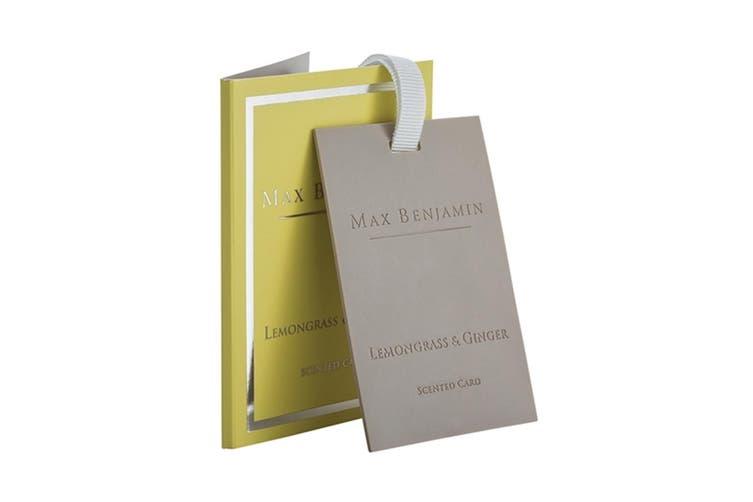 Max Benjamin Scented Fragrance Card for Bag Wardrobe Drawer Lemongrass & Ginger