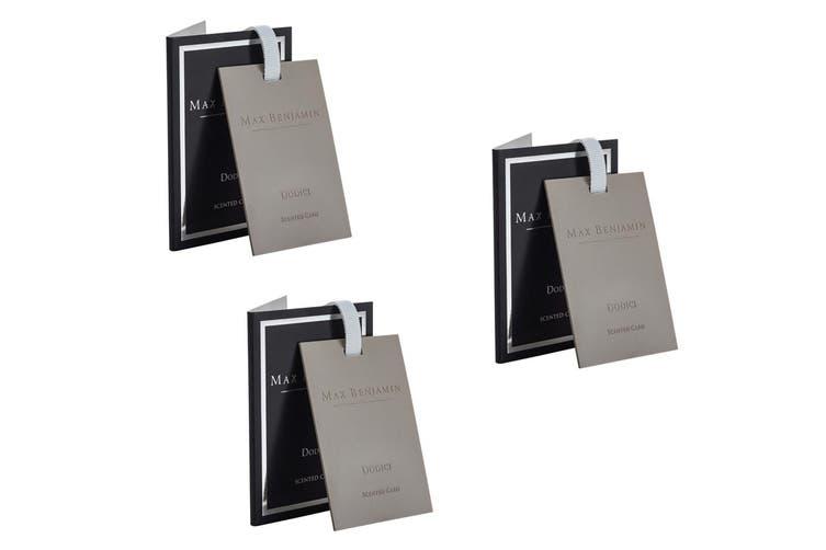 3x Max Benjamin Scented Fragracne Card for Bag Wardrobe Drawer Car Dodici