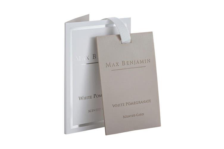 Max Benjamin Scented Fragrance Card for Bag Wardrobe Drawer White Pomegranate
