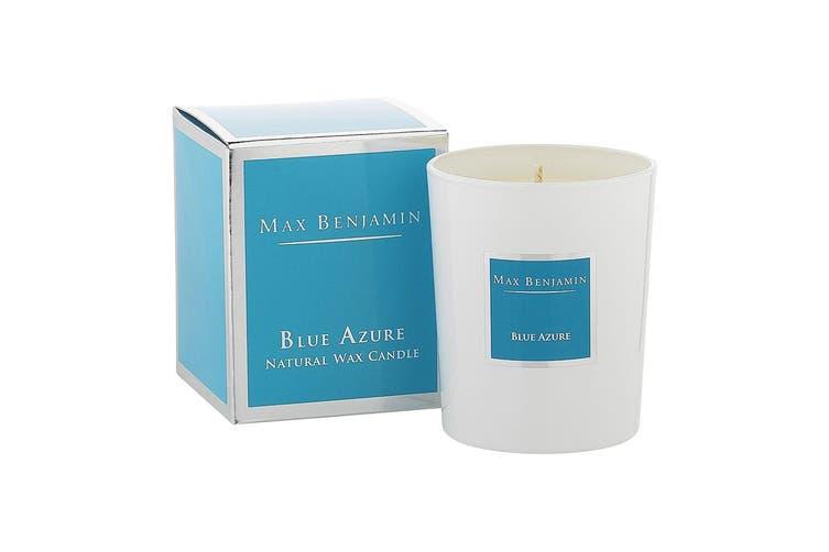 Max Benjamin 190g Natural Wax Scented Candle Jar 40hr Burn Time Blue Azure