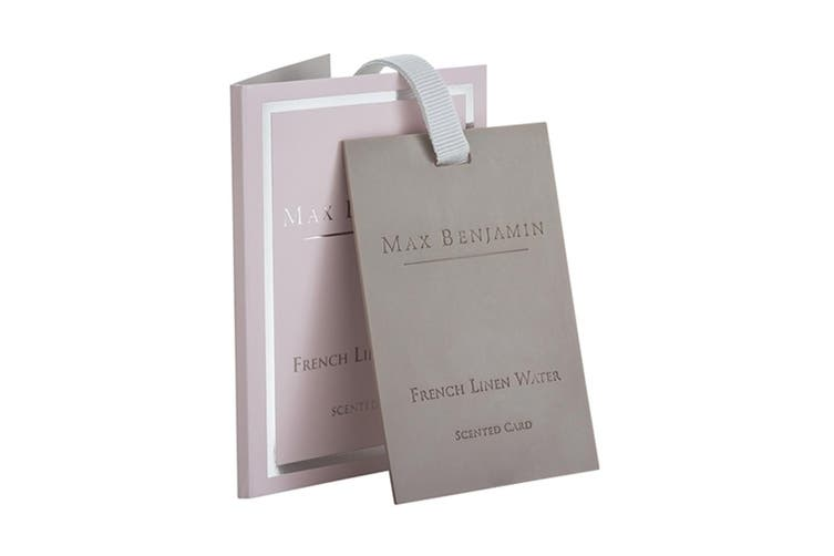 Max Benjamin Scented Fragrance Card for Bag Wardrobe Drawer French Linen Water