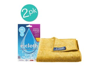 2PK E-Cloth General Purpose Cloth 32cm Cleaning Fibre Towel Home Assorted Colour