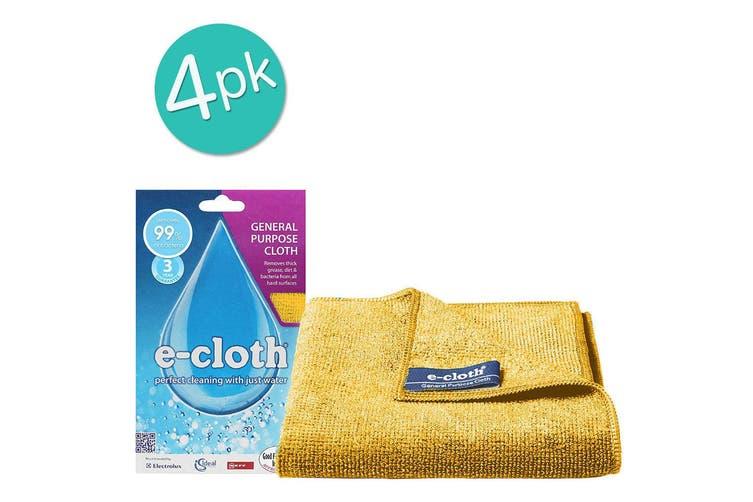 4PK E-Cloth General Purpose Cloth 32cm Cleaning Fibre Towel Home Assorted Colour