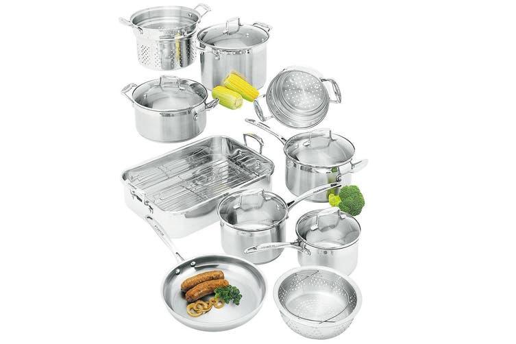 Scanpan Impact 10Pc Cookware Set Fry Pan Saucepan Steamer Casserole Pot Roaster
