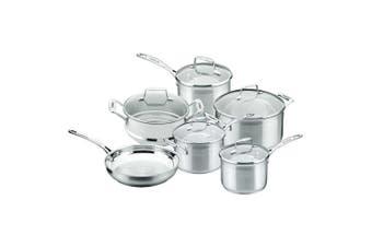 Scanpan Impact 6P Cookware Set Stainless Steel Saucepan Casserole Frypan Steamer