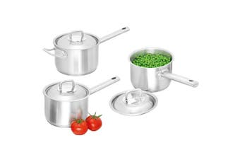Scanpan Commericial 3PC Saucepan Set Stainless Steel Induction Cookware 16 18 20