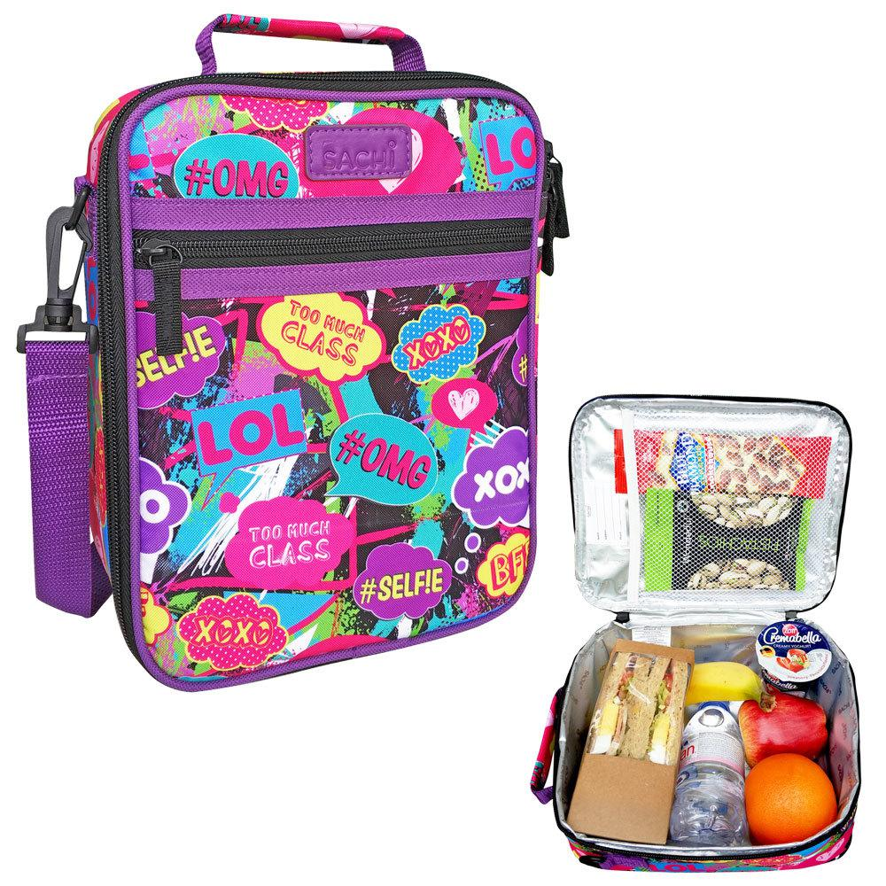 Sachi Thermal Insulated Picnic Lunch Tote//Cooler Carry Case Pouch Bag//Box Space