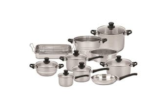 Scanpan 10PC Classic Inox Stainless Steel Induction Frypan Saucepan Pot Pan Set