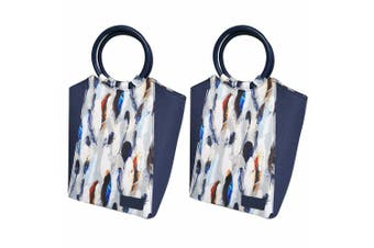 2PK Sachi Insulated Lunch Carry Case Tote Picnic Storage Portable Bag Feathers