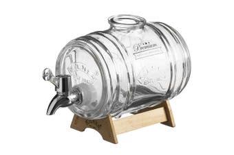 Kilner 1L Glass Barrel Drink Dispenser Beverage Beer Water for Event Party Bar
