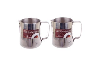 2x Casa Barista 900ml Stainless Steel Milk Coffee Latte Frothing Cup Pitcher Jug