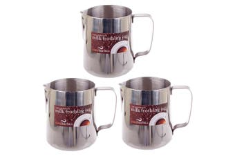 3x Casa Barista 900ml Stainless Steel Milk Coffee Latte Frothing Cup Pitcher Jug