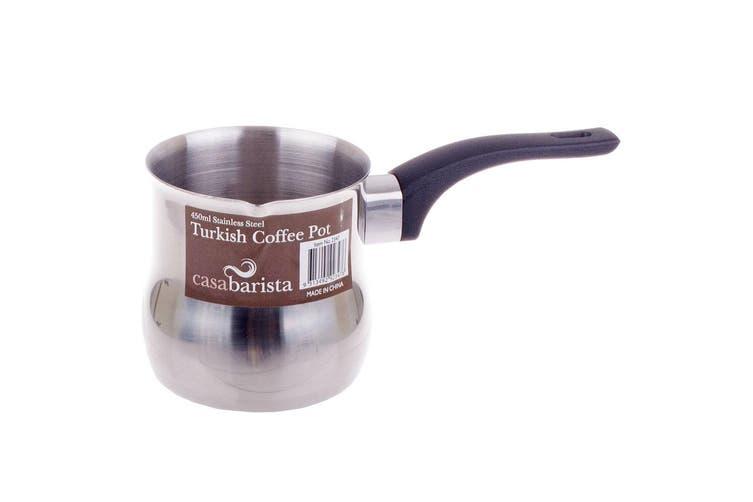3x Casa Barista Turkish 450ml Stainless Steel Stovetop Coffee Espresso Pot Maker