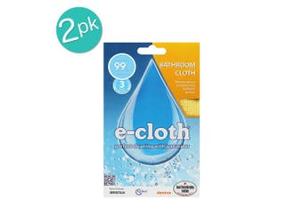 2PK E-Cloth Bathroom Cleaning Wash Dry Polish Home Cloths Duster Towels Yellow