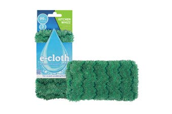 E-Cloth Kitchen Whizz Dishwashing Surface Cleaning Scrubbing Cloth Cleaner Green