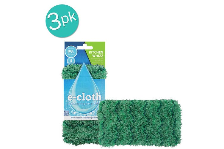 3x E-Cloth Kitchen Whizz Dishwashing Surface Cleaning Scrubbing Cloth Cleaner