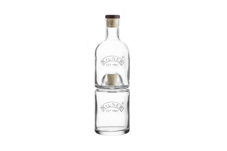 Kilner 330ML & 350ML Bottle Set Stackable Storage for Wine Whiskey Vinegar Oil