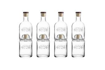 4PK Kilner 330ML 350ML Bottle Set Stackable Storage for Wine Whiskey Vinegar Oil