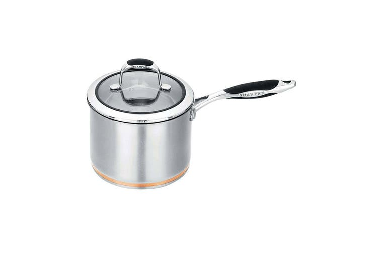 Scanpan Coppernox Saucepan w  Tempered Glass Lid Stainless Steel Copper 2.5L