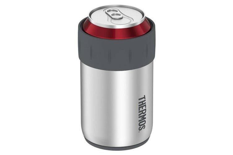 Thermos 355ml Stainless Steel Beer Drinks Can Insulator Cooler Stubby Holder SLV