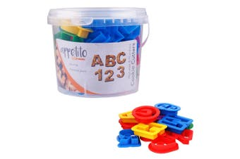 36pc Appetito Alphabet Numbers Letters Cookie Mould Cutters Baking Tool Mold Set