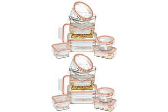14pc Glasslock Rimless Oven Safe Food w  Lid Food Storage Container Set BPA Free