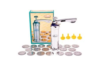Shule 24pc Deluxe Gun Biscuit Cookie Press Maker Pastry Baking Cake Decorating