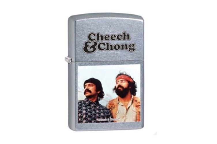 Zippo Cheech & Chong Street 28474 Genuine Chrome Finish Pocket Lighter Windproof