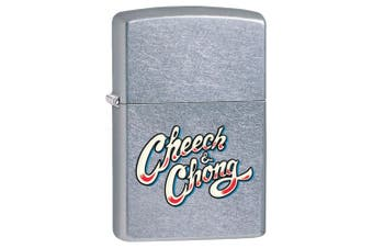Zippo Cheech & Chong Logo 28475 Genuine Chrome Finish Pocket Lighter Windproof