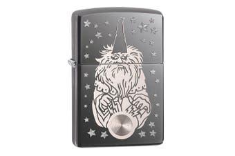 Zippo Wizard Fantasy Genuine Black Ice Chrome Finish Pocket Lighter Windproof