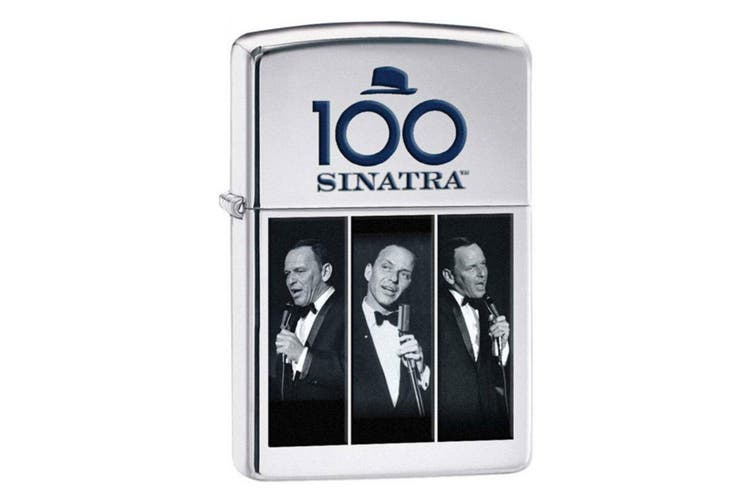 Zippo Frank Sinatra 28960 Genuine Polish Chrome Finish Cigar Cigarette Lighter