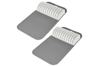 2x Madesmart Large In-Drawer Kitchen Chef Knife Holder Storage Mat for 11 Knives