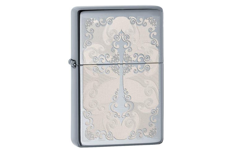 Zippo Vintage Cross 29231 Genuine Polish Chrome Finish Cigar Cigarette Lighter