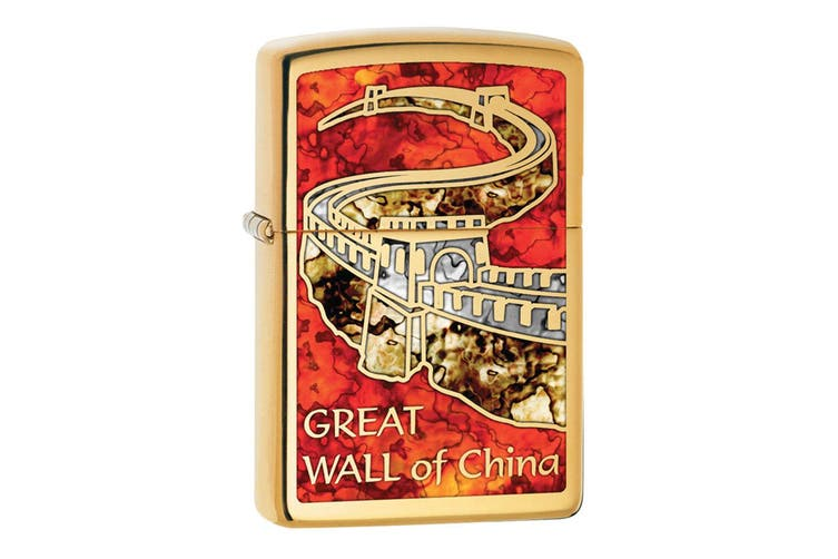 Zippo Great Wall of China Genuine Brass Fusion Finish Cigar Cigarette Lighter