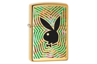 Zippo Playboy Bunny Genuine Polish Brass Fusion Finish Cigar Cigarette Lighter