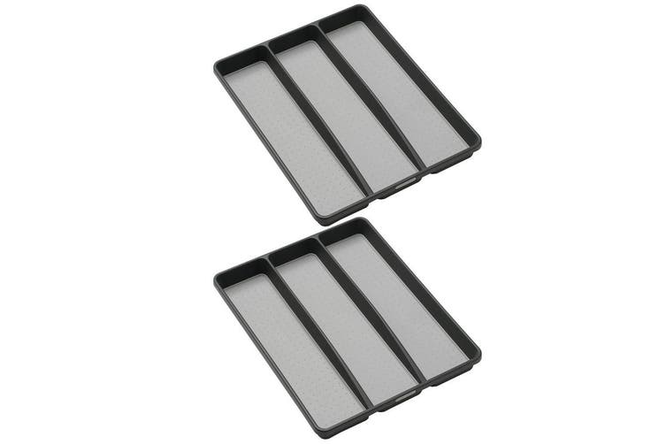 2x MadeSmart Utensil Cutlery Tray for Kitchen Knife Spoon Ladle Drawer Organiser