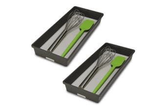 2PK Madesmart Large Bin Kitchen Cutlery Utensil Tray Drawer Organiser Granite