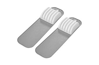 2x Madesmart Small In-Drawer Kitchen Chef Knife Holder Storage Mat for 5 Knives