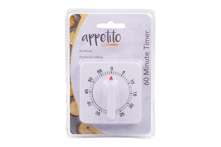 Appetito Analogue Mechanical 60min Cooking Food Kitchen Timer Magnetic Standing